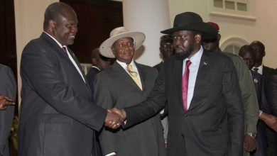 Photo of South Sudan's former rebel leader sworn in as first vice president