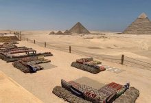 Photo of Final touches underway for the first restaurant at the Giza Pyramids